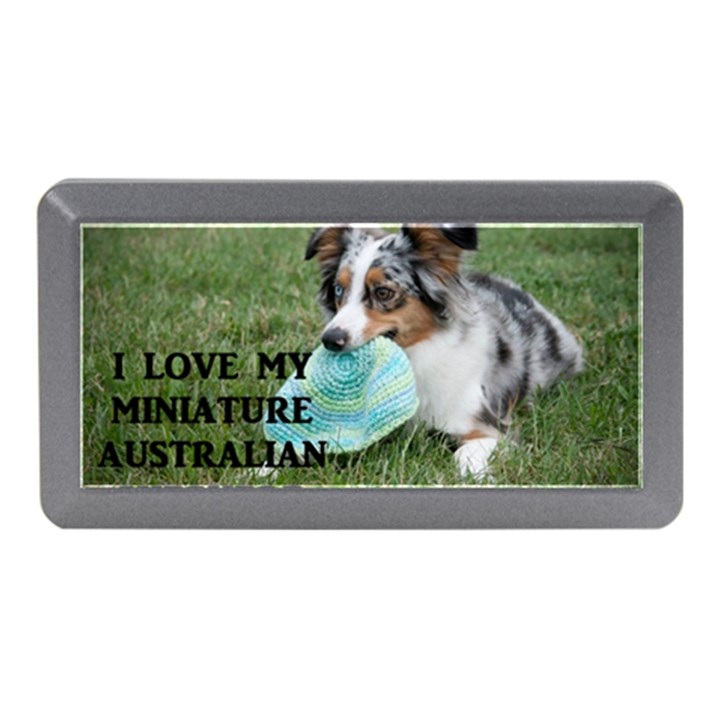 Blue Merle Miniature American Shepherd Love W Pic Memory Card Reader (Mini)