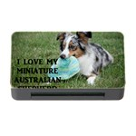 Blue Merle Miniature American Shepherd Love W Pic Memory Card Reader with CF Front