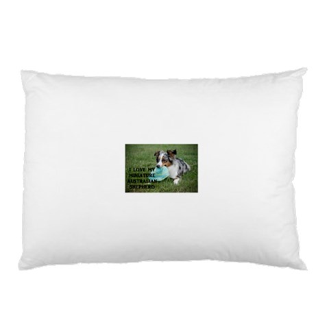 Blue Merle Miniature American Shepherd Love W Pic Pillow Case (Two Sides)