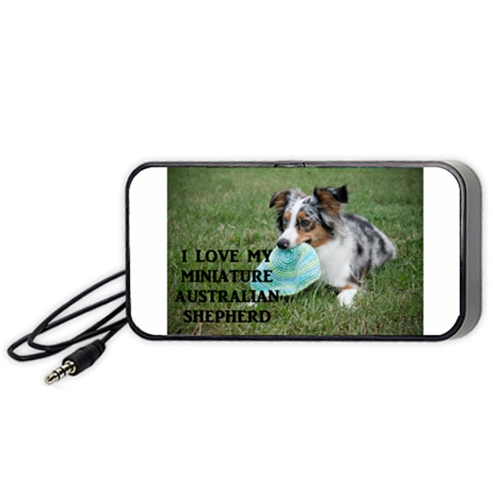 Blue Merle Miniature American Shepherd Love W Pic Portable Speaker (Black)