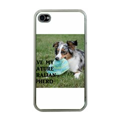 Blue Merle Miniature American Shepherd Love W Pic Apple iPhone 4 Case (Clear)