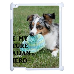 Blue Merle Miniature American Shepherd Love W Pic Apple iPad 2 Case (White)