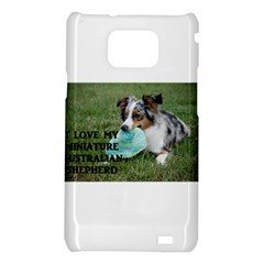 Blue Merle Miniature American Shepherd Love W Pic Samsung Galaxy S2 i9100 Hardshell Case