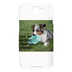 Blue Merle Miniature American Shepherd Love W Pic HTC One S Hardshell Case