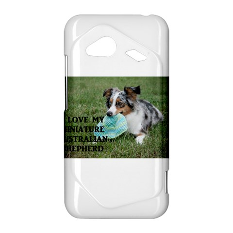 Blue Merle Miniature American Shepherd Love W Pic HTC Droid Incredible 4G LTE Hardshell Case