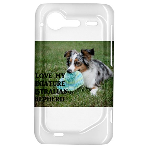 Blue Merle Miniature American Shepherd Love W Pic HTC Incredible S Hardshell Case