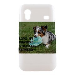Blue Merle Miniature American Shepherd Love W Pic Samsung Galaxy Ace S5830 Hardshell Case