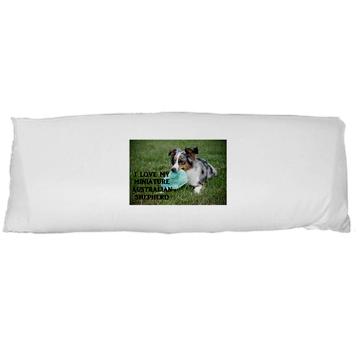 Blue Merle Miniature American Shepherd Love W Pic Body Pillow Case Dakimakura (Two Sides)