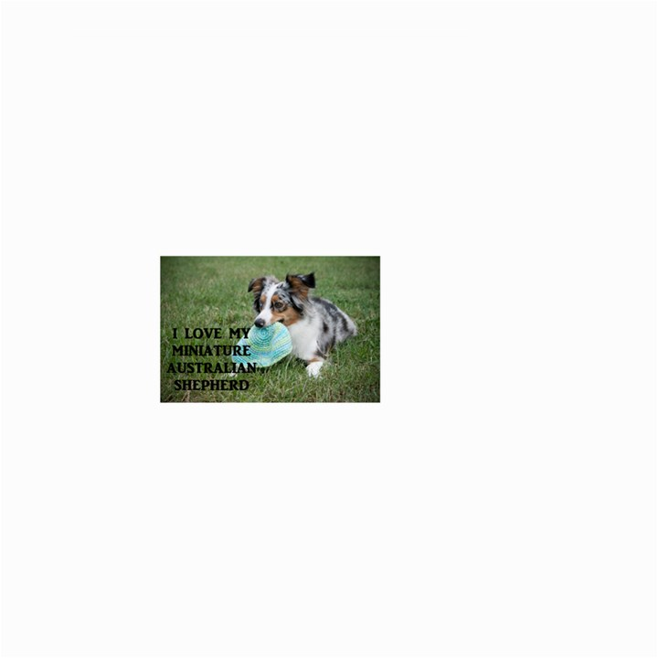 Blue Merle Miniature American Shepherd Love W Pic Small Garden Flag (Two Sides)