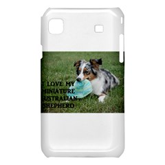 Blue Merle Miniature American Shepherd Love W Pic Samsung Galaxy S i9008 Hardshell Case