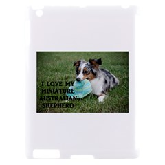 Blue Merle Miniature American Shepherd Love W Pic Apple iPad 2 Hardshell Case (Compatible with Smart Cover)