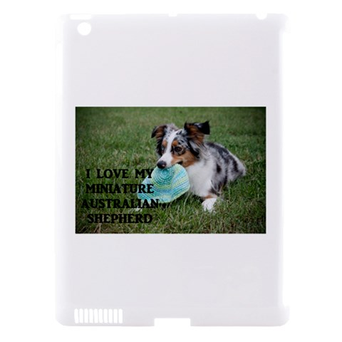Blue Merle Miniature American Shepherd Love W Pic Apple iPad 3/4 Hardshell Case (Compatible with Smart Cover)