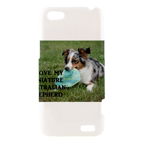 Blue Merle Miniature American Shepherd Love W Pic HTC One V Hardshell Case