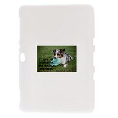 Blue Merle Miniature American Shepherd Love W Pic Samsung Galaxy Tab 8.9  P7300 Hardshell Case