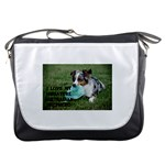 Blue Merle Miniature American Shepherd Love W Pic Messenger Bags Front