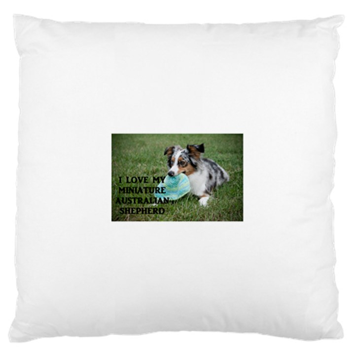 Blue Merle Miniature American Shepherd Love W Pic Large Cushion Case (Two Sides)