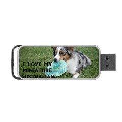 Blue Merle Miniature American Shepherd Love W Pic Portable USB Flash (One Side)