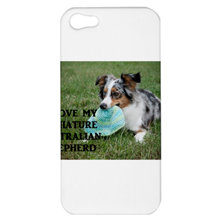 Blue Merle Miniature American Shepherd Love W Pic Apple iPhone 5 Hardshell Case