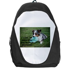 Blue Merle Miniature American Shepherd Love W Pic Backpack Bag