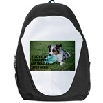Blue Merle Miniature American Shepherd Love W Pic Backpack Bag Front