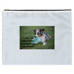 Blue Merle Miniature American Shepherd Love W Pic Cosmetic Bag (XXXL)