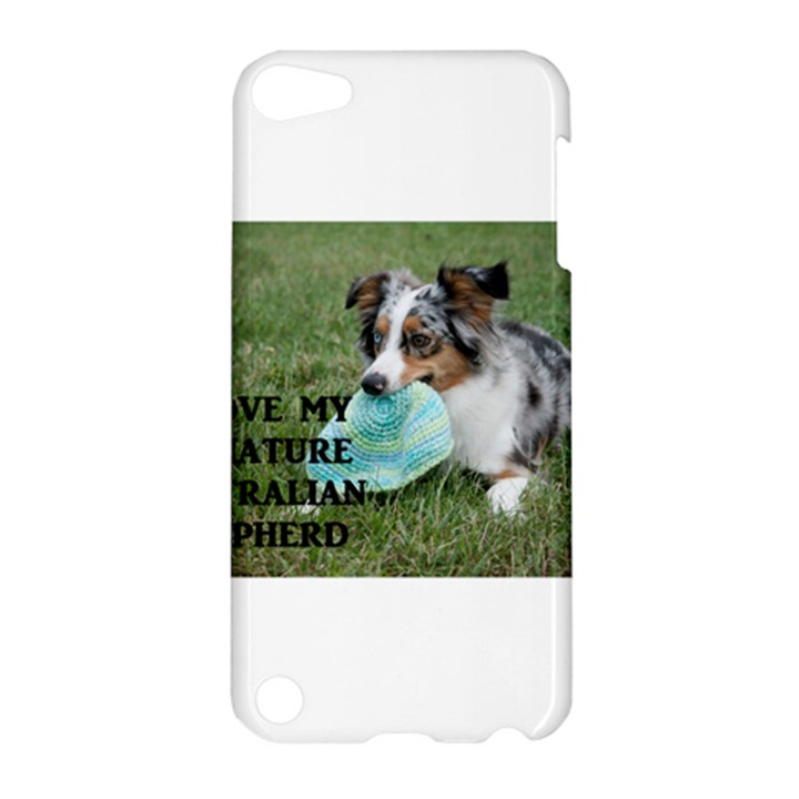 Blue Merle Miniature American Shepherd Love W Pic Apple iPod Touch 5 Hardshell Case