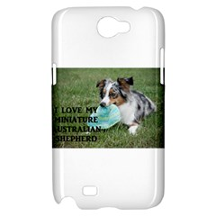 Blue Merle Miniature American Shepherd Love W Pic Samsung Galaxy Note 2 Hardshell Case