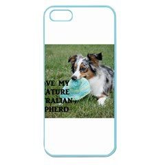 Blue Merle Miniature American Shepherd Love W Pic Apple Seamless iPhone 5 Case (Color)
