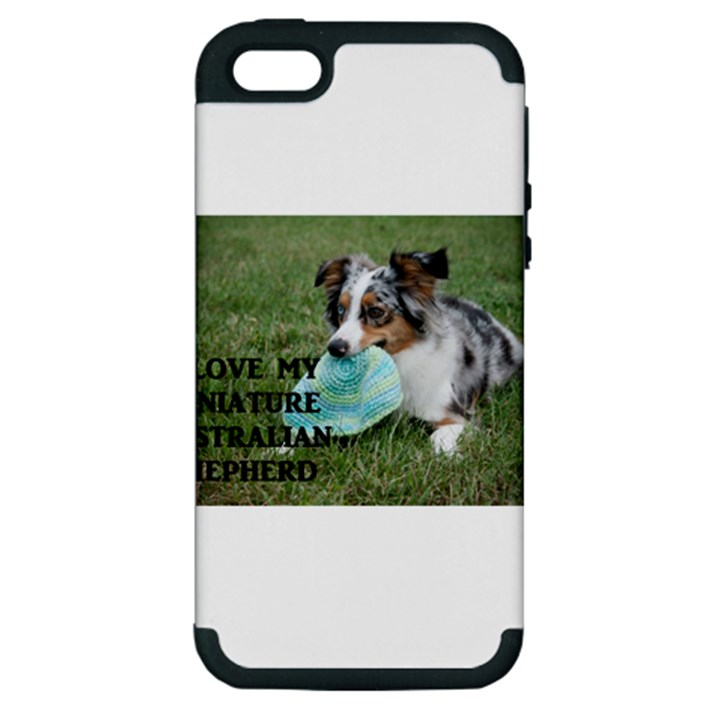 Blue Merle Miniature American Shepherd Love W Pic Apple iPhone 5 Hardshell Case (PC+Silicone)