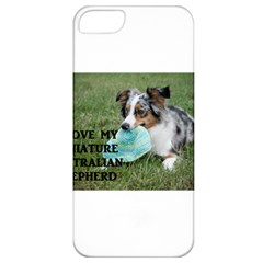 Blue Merle Miniature American Shepherd Love W Pic Apple iPhone 5 Classic Hardshell Case