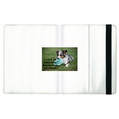 Blue Merle Miniature American Shepherd Love W Pic Apple iPad 2 Flip Case
