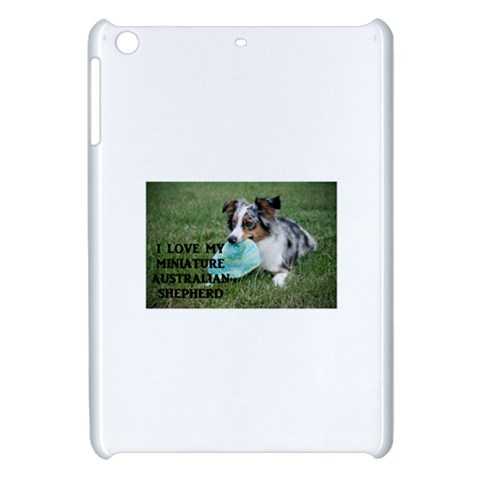 Blue Merle Miniature American Shepherd Love W Pic Apple iPad Mini Hardshell Case
