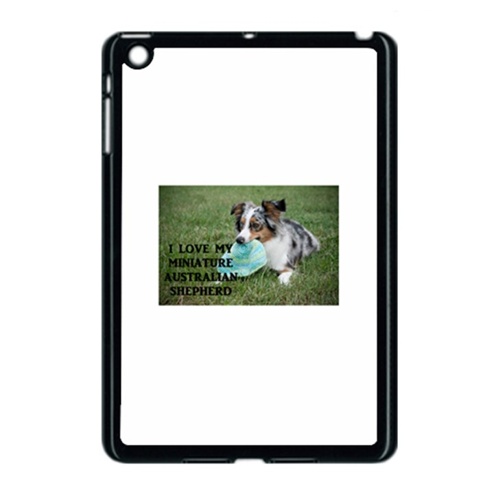 Blue Merle Miniature American Shepherd Love W Pic Apple iPad Mini Case (Black)