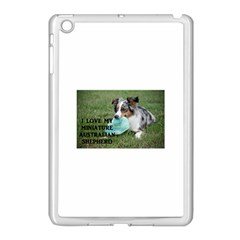 Blue Merle Miniature American Shepherd Love W Pic Apple iPad Mini Case (White)