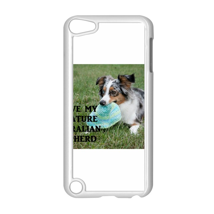 Blue Merle Miniature American Shepherd Love W Pic Apple iPod Touch 5 Case (White)