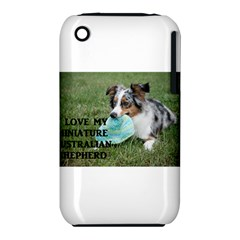 Blue Merle Miniature American Shepherd Love W Pic Apple iPhone 3G/3GS Hardshell Case (PC+Silicone)