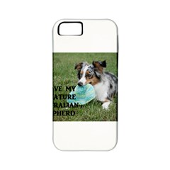 Blue Merle Miniature American Shepherd Love W Pic Apple iPhone 5 Classic Hardshell Case (PC+Silicone)