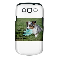 Blue Merle Miniature American Shepherd Love W Pic Samsung Galaxy S III Classic Hardshell Case (PC+Silicone)