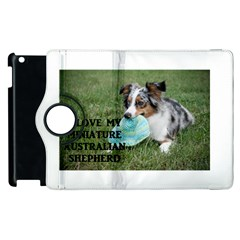 Blue Merle Miniature American Shepherd Love W Pic Apple iPad 3/4 Flip 360 Case