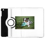 Blue Merle Miniature American Shepherd Love W Pic Apple iPad Mini Flip 360 Case Front