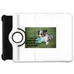 Blue Merle Miniature American Shepherd Love W Pic Kindle Fire HD Flip 360 Case Front