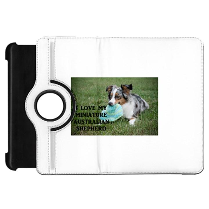 Blue Merle Miniature American Shepherd Love W Pic Kindle Fire HD Flip 360 Case