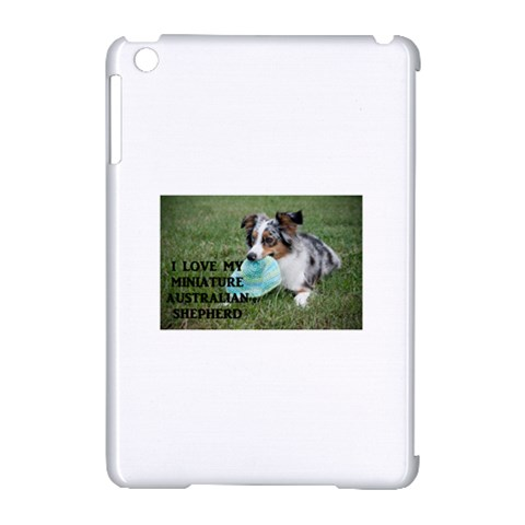 Blue Merle Miniature American Shepherd Love W Pic Apple iPad Mini Hardshell Case (Compatible with Smart Cover)