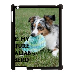 Blue Merle Miniature American Shepherd Love W Pic Apple Ipad 3/4 Case (black)