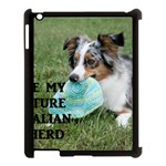Blue Merle Miniature American Shepherd Love W Pic Apple iPad 3/4 Case (Black) Front