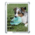 Blue Merle Miniature American Shepherd Love W Pic Apple iPad 3/4 Case (White) Front