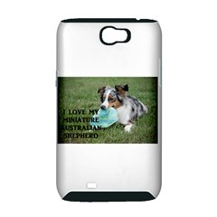 Blue Merle Miniature American Shepherd Love W Pic Samsung Galaxy Note 2 Hardshell Case (PC+Silicone)