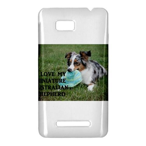 Blue Merle Miniature American Shepherd Love W Pic HTC One SU T528W Hardshell Case