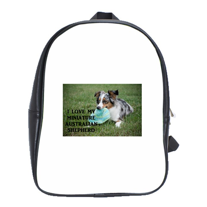 Blue Merle Miniature American Shepherd Love W Pic School Bags (XL)