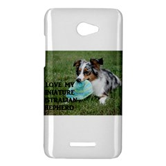 Blue Merle Miniature American Shepherd Love W Pic HTC Butterfly X920E Hardshell Case